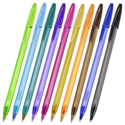 Caneta esferográfica 1.2mm 10 cores Fashion 930813 BIC BT 10 UN