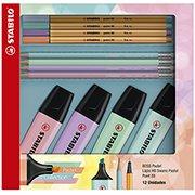 Kit tom pastel Boss pastel + Point + lápis 55.3402 Stabilo BT 12 UN