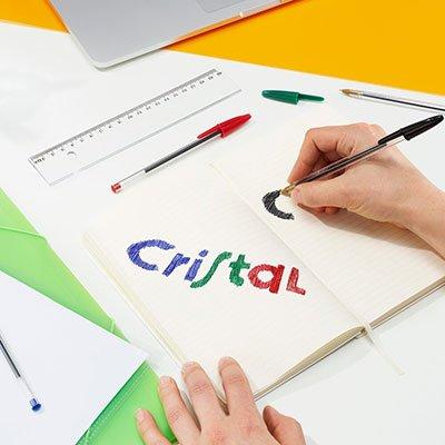 Caneta Esferográfica BIC Cristal Dura Mais, A Clássica, 4 Cores, Ponta Média de 1.0mm, 878710 - BT 4 UN