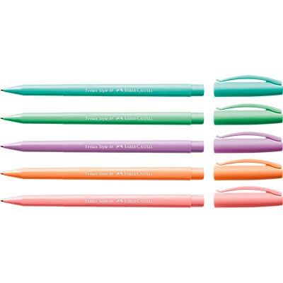 Trilux Style Colors Estojo com 5 Cores - Faber-Castell BT 5 UN