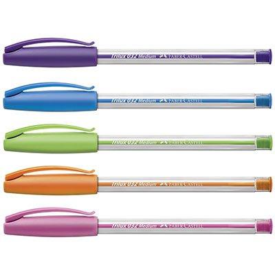 Caneta esferográfica 1.0mm Trilux colors 032/ESC Faber Castell BT 5 UN