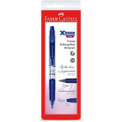 Caneta esferográfica retrátil 1.0mm Xtreme azul SMXTRT10AZ Faber Castell BT 1 UN