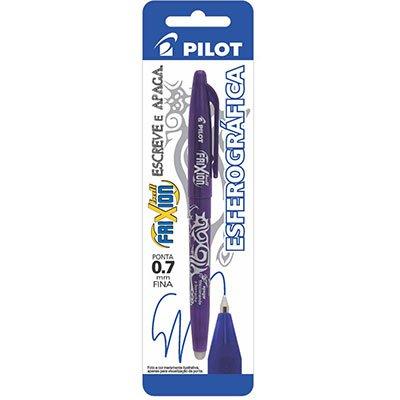 Caneta Escreve e Apaga Frixion 0,7mm Esferográfica Violeta Pilot BT 1 UN