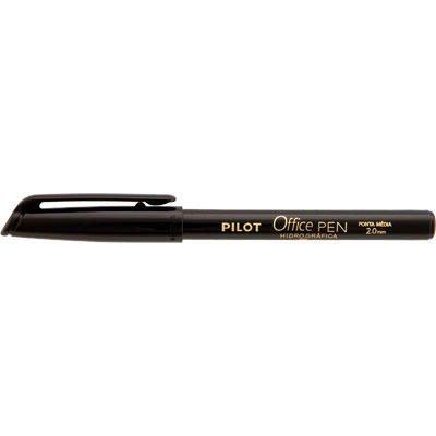 Caneta hidrográfica preta 2,0mm Office Pen 1481005S Pilot BT 1 UN