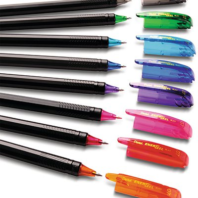 Caneta Gel 0.7mm Energel Makkuro Preta, Vermelha e Azul, SM-BL417-ABC6 - Pentel BT 1 UN