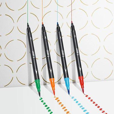 Caneta pincel Brush Pen ponta dupla azul 971022 BIC UN 1 UN
