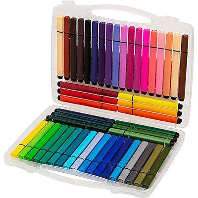 Caneta hidrográfica 48 cores Hidrocor Artístico 05075 Molin CX 48 UN