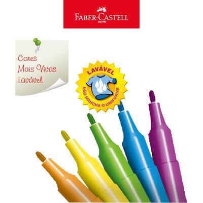 Caneta hidrográfica 12 cores 15.0112CZF Faber Castell BT 1 UN