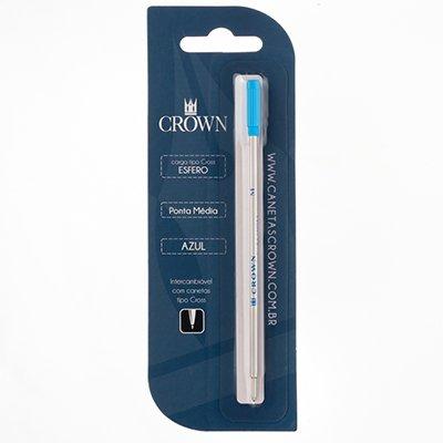 Carga p/ caneta esferográfica ponta média azul CA12009A Crown BT 1 UN