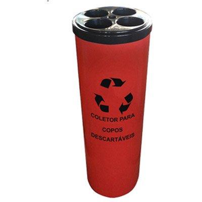 Dispenser / Coletor de copos água PP tampa preta Só Lixeiras CX 1 UN