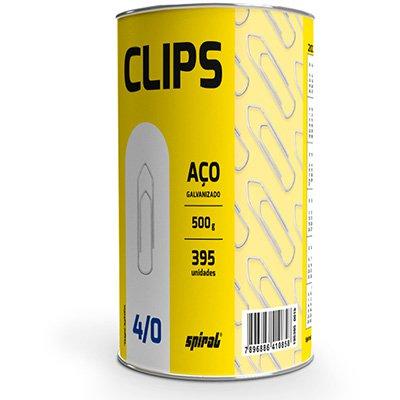 Clips nr.4/0 galvanizado (lata c/500g) Spiral PT 1 UN