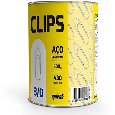 Clips nr.3/0 galvanizado (lata c/500g) Spiral PT 1 UN