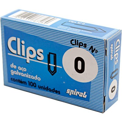 Clips nr.0 galvanizado (pt c/100un) Spiral PT 1 UN