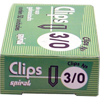 Clips nr.3/0 galvanizado (pt c/50un) Spiral PT 1 UN