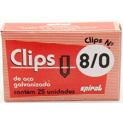 Clips nr.8/0 galvanizado (pt c/25un) Spiral PT 1 UN