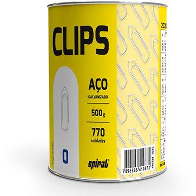 Clips nr.0 galvanizado (lata c/500g) Spiral PT 1 UN