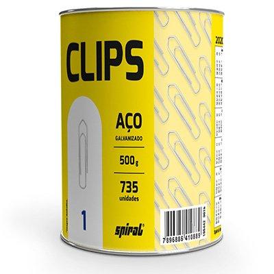 Clips nr.1 galvanizado (lata c/500g) Spiral PT 1 UN