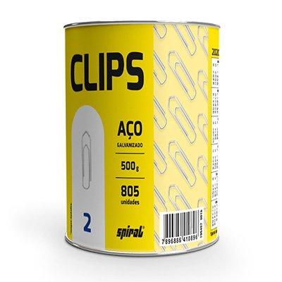 Clips nr.2 galvanizado (lata c/500g) Spiral PT 1 UN