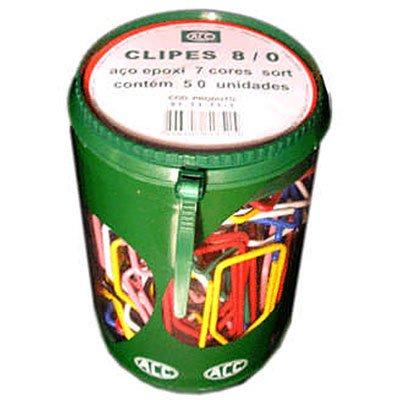 Clips nr.8/0 aço epóxi (pt c/50un) cores sortidas Acc PO 1 UN