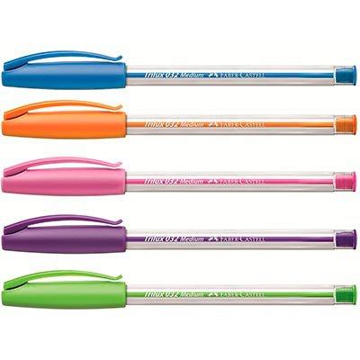 Caneta esferográfica 1.0mm Trilux colors SM032COL Faber Castell BT 3 UN