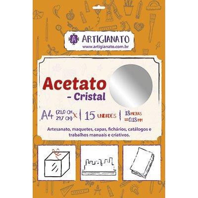 Acetato cristal A4 0,18 micras Artigianato PT 15 UN