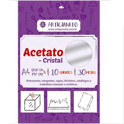 Acetato cristal A4 0,30 micras Artigianato PT 10 UN