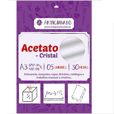 Acetato cristal A3 0,30 micras Artigianato PT 5 UN