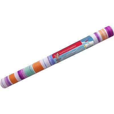 Plástico autoadesivo listras color 45cmx2m 13771 Geekofix RL 1 UN