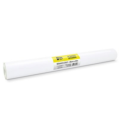 Plástico autoadesivo branco 45cmx10m 2017 Stick Fix PT 1 RL