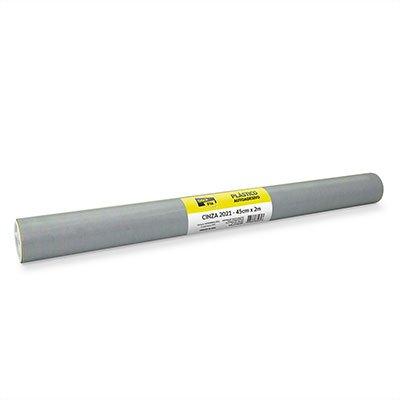 Plástico autoadesivo cinza 45cmx2m 2021 Stick Fix PT 1 RL