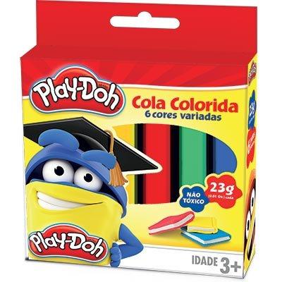 Cola colorida 23g c/06 cores Play-Doh 02694 Play Doh BT 1 UN