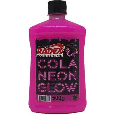 Cola para Slime 500g Glow neon rosa 7308 Radex CX 1 UN
