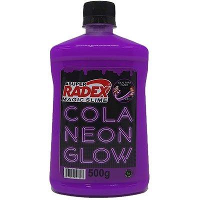 Cola para Slime 500g Glow neon roxo 7309 Radex CX 1 UN