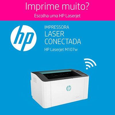 Impressora laser 107w 4ZB78A, Monocromática, Wi-fi, Conexão USB, 110v - HP CX 1 UN