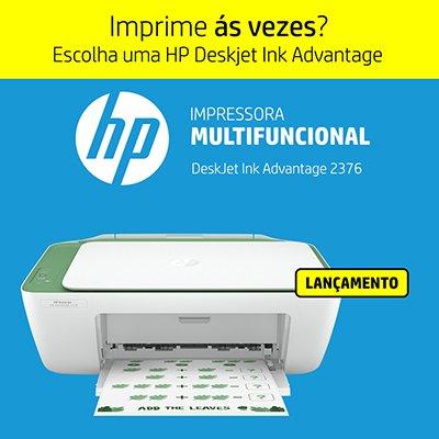 Impressora Multifuncional Deskjet Ink Advantage  2376 7WQ02A, Colorida, Conexão USB, Bivolt - HP CX 1 UN