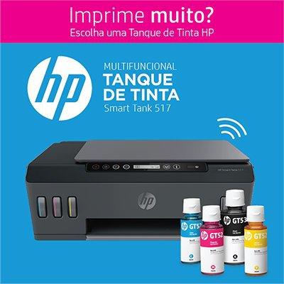 Impressora Multifuncional tanque de tinta Smart Tank 517 1TJ10A, Color, Wi-fi, Conexão USB, Bivolt - HP CX 1 UN