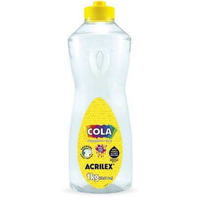 Cola transparente 1kg 19901 Acrilex PT 1 UN