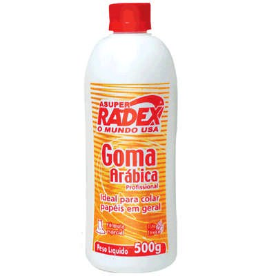 Cola goma arábica asuper radex 500g 424 Radex PT 1 UN
