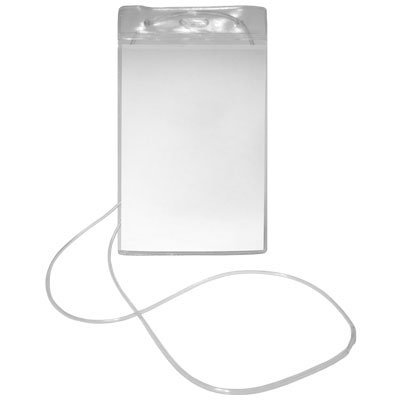 Crachá vertical transparente c/ cordão 80x120mm 231 Plastpark PT 50 UN