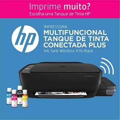 Impressora Multifuncional tanque de tinta Ink Tank 416 preta Z4B55A HP CX 1 UN