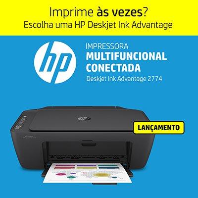 Impressora Multifuncional Deskjet Ink Advantage 2774 7FR22A, Colorida, Wi-fi, Conexão USB, Bivolt - HP CX 1 UN