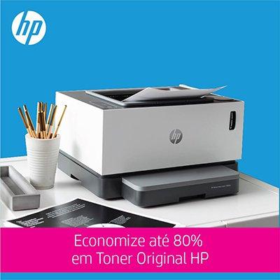 Impressora Tanque de Toner Conectada Neverstop 1000w 4RY23A, Monocromática, Wi-fi, Conexão USB, HP CX 1 UN