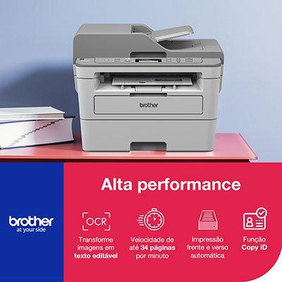 Impressora Multifuncional Laser DCP B7535DW, Monocromática, Impressão Duplex, Wi-fi, Conexão Ethernet, Conexão USB, 110v - Brother CX 1 UN