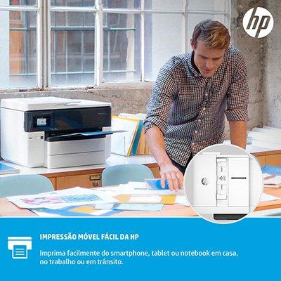 Impressora Multifuncional A3 Officejet Pro 7740 G5J38A, Colorida, Wi-fi, Conexão Ethernet, Conexão USB, Bivolt - HP CX 1 UN