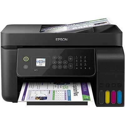 Multifuncional Epson Ecotank L5190 Jato de Tinta Colorida Usb, Ethernet e Wi-fi Bivolt