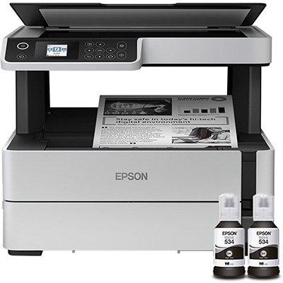 Impressora Multifuncional Tanque de Tinta Ecotank M2170, Monocromática, Impressão Duplex, Wi-fi, Conexão Ethernet, Conexão USB, Bivolt - Epson CX 1 UN