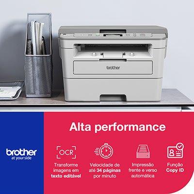 Impressora Multifuncional Laser DCP-B7520DW, Monocromática, Impressão Duplex, Wi-fi, Conexão Ethernet, Conexão USB, 110v - Brother CX 1 UN
