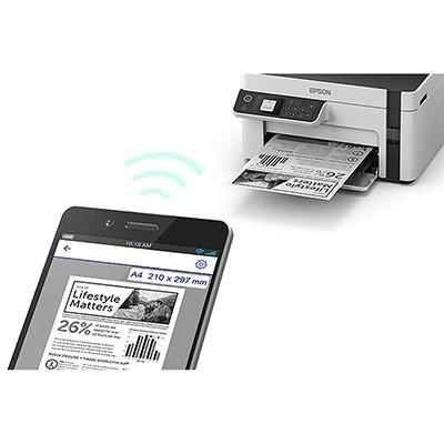 Impressora Multifuncional tanque de tinta Ecotank M2120, Monocromática, Impressão Duplex manual, Wi-fi, Conexão USB, Bivolt -Epson CX 1 UN