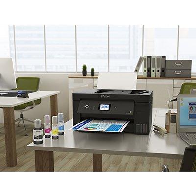 Impressora Multifuncional tanque de tinta Ecotank Wifi A3 L14150, Colorida, Wi-fi, Conexão Ethernet, Conexão USB,  Bivolt - Epson CX 1 UN
