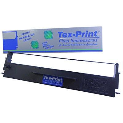 Fita nylon p/impressora epson LX350/LX300+II/LX300/MX80/LQ570 TP067 Tex-print CX 1 UN